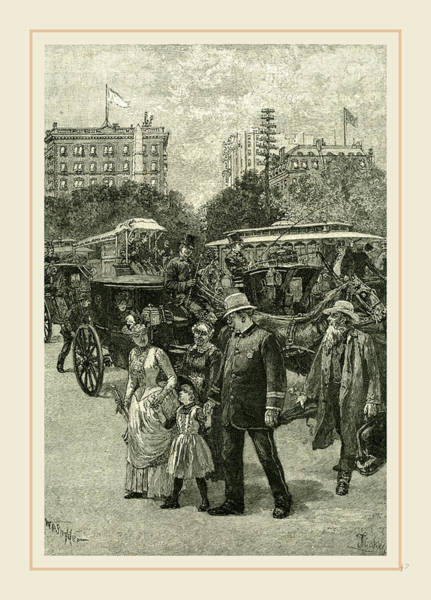 Duty Drawing - New York, A Member Of The Broadway Squad On Duty by Liszt collection
