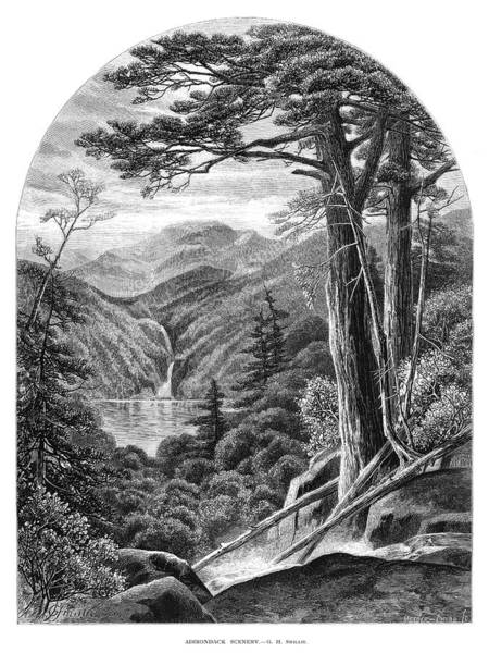 Adirondack Mountains Painting - New York Adirondacks, 1872 by Granger