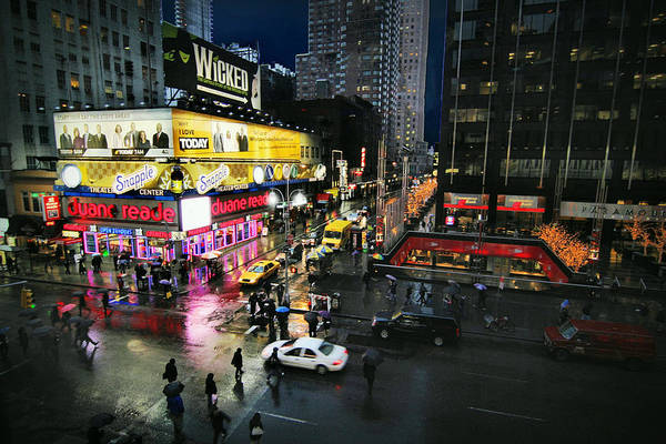 City Scape Digital Art - New York After The Rain by Linda Unger