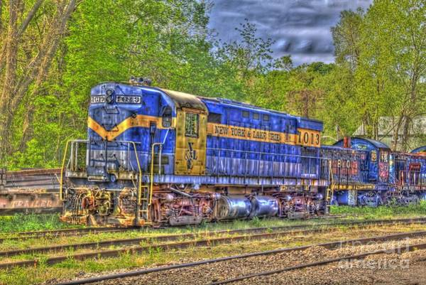 Photograph - New York And Lake Erie Locomotive by Jim Lepard