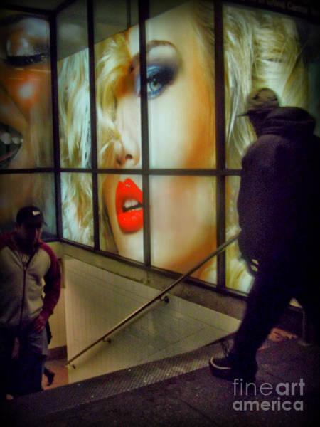 Blade Runner Photograph - New York At Night - Subway One - Variation by Miriam Danar