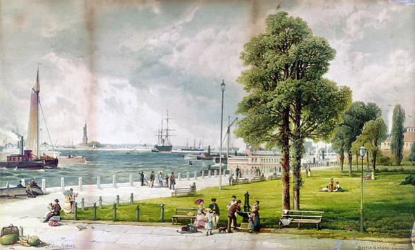 Wall Art - Painting - New York Battery, 1887 by Granger