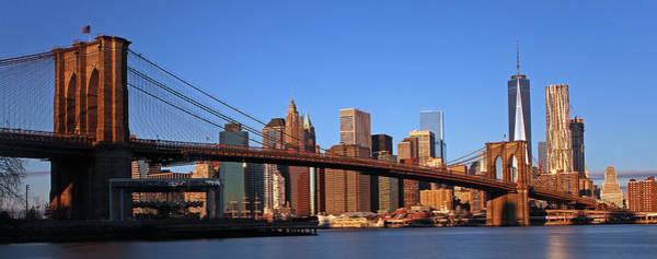 Photograph - New York Brooklyn Bridge by Juergen Roth