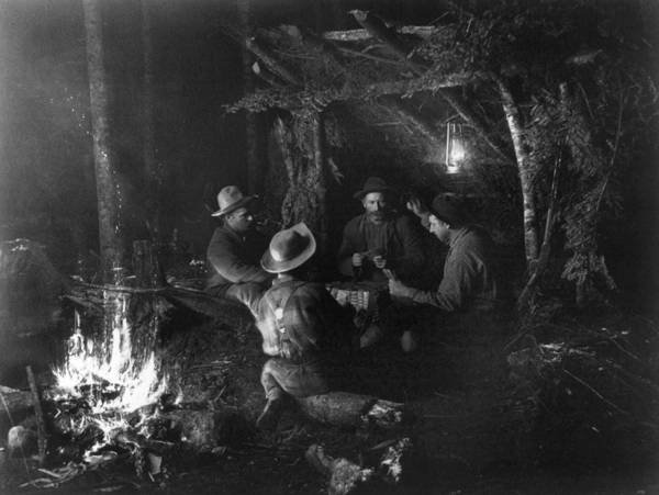 Lean-tos Photograph - New York Camping, C1888 by Granger