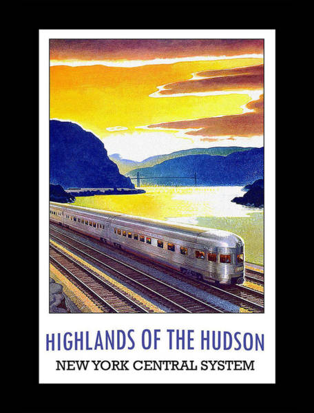 Digital Art - New York Central Vintage Poster by Denise Beverly