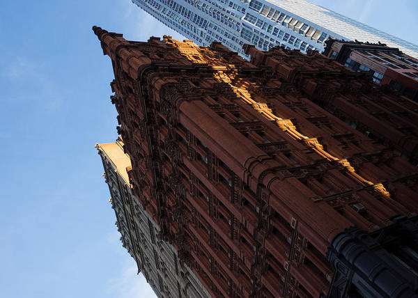 Queen Anne Style Photograph - New York City - An Angled View Of The Potter Building At Sunrise by Georgia Mizuleva