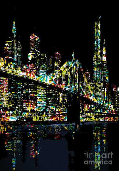 Brooklyn Bridge Digital Art - New York City by Andrzej Szczerski