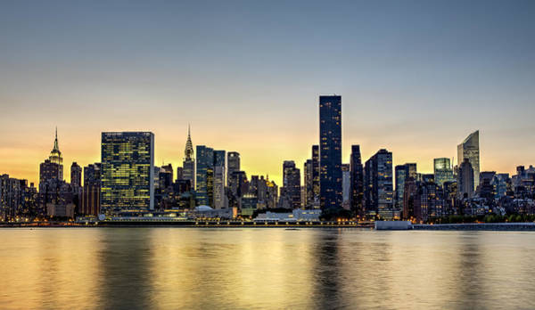 City Scape Photograph - New York City Dusk Colors by Susan Candelario