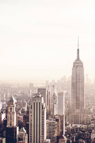 Roof Top Photograph - New York City - Empire State Building by Vivienne Gucwa