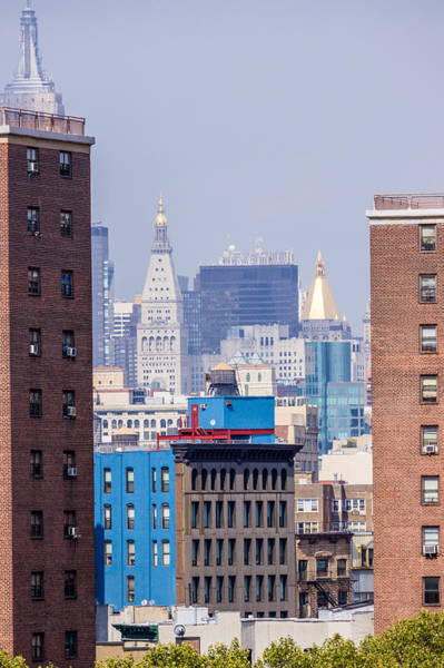 New York City From Brooklyn Bridge Art Print