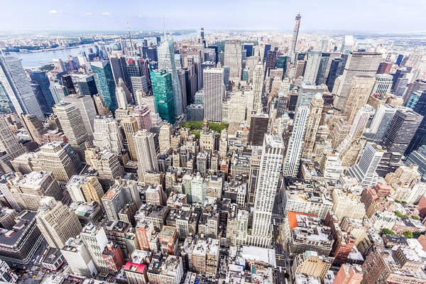 New York City From The Empire State Building Art Print