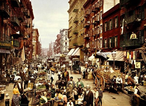 Photograph - New York City Manhattan Mulberry Street 1900 by Movie Poster Prints