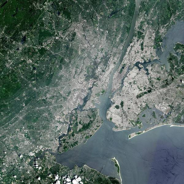 Long Island City Photograph - New York City by Nasa Earth Observatory/jesse Allen/science Photo Library