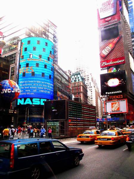 Photograph - New York City Nasdaq Times Square by Cleaster Cotton