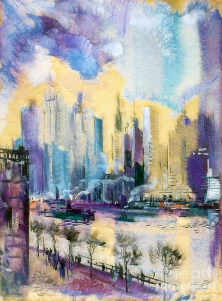 Midtown Manhattan Digital Art - New York City by Odon Czintos