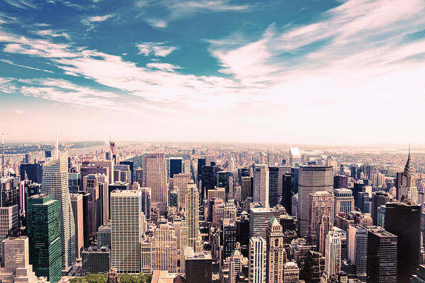 Roof Top Photograph - New York City - Skyline And Central Park by Vivienne Gucwa