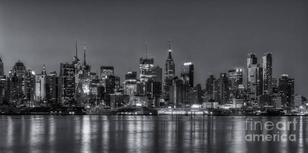Photograph - New York City Skyline Morning Twilight Xviii by Clarence Holmes