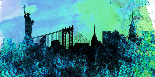Wall Art - Painting - New York City Skyline by Naxart Studio