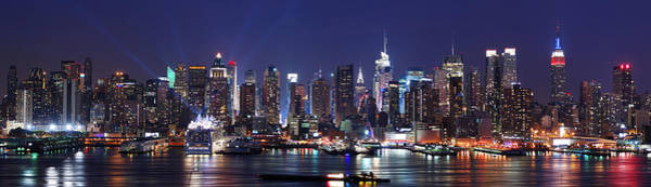 Wall Art - Photograph - New York City Skyline Panorama by Songquan Deng