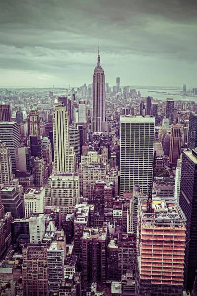 Wall Art - Photograph - New York City Skyline, Usa by Mbbirdy