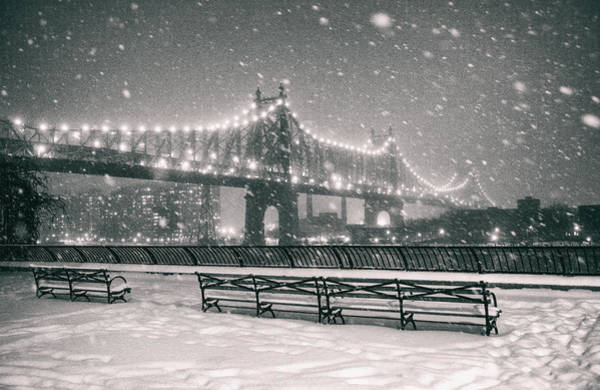 Wall Art - Photograph - New York City - Snow At Night - Sutton Place by Vivienne Gucwa
