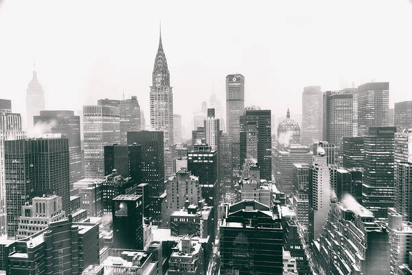 Winter Photograph - New York City - Snow-covered Skyline by Vivienne Gucwa