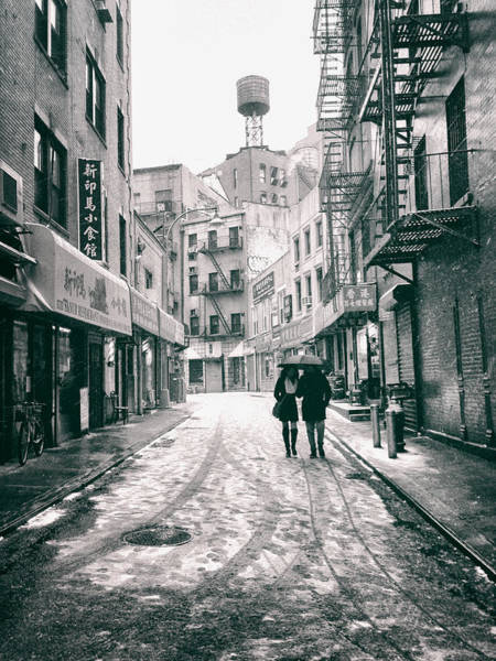 Wall Art - Photograph - New York City - Snow On A Winter Afternoon - Chinatown by Vivienne Gucwa