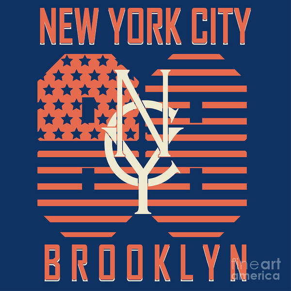 Cool Digital Art - New York City Sport Typography Graphics by Andrii m