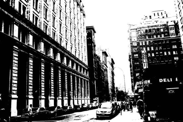 Photograph - New York City Streetscape by Cleaster Cotton