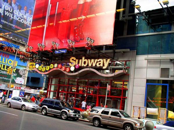 Photograph - New York City Subway Times Square by Cleaster Cotton