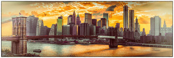 Wall Art - Photograph - New York City Summer Panorama by Chris Lord