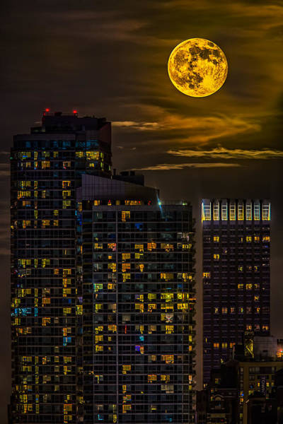 Photograph - New York City Super Moon by Susan Candelario