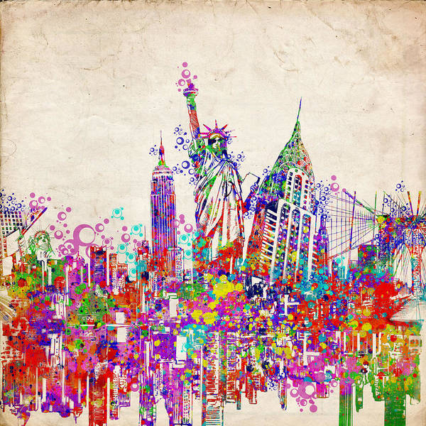 Wall Art - Painting - New York City Tribute 2 by Bekim M