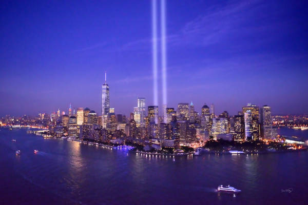 Wall Art - Photograph - New York City Tribute In Lights World Trade Center Wtc Manhattan Nyc by Jon Holiday