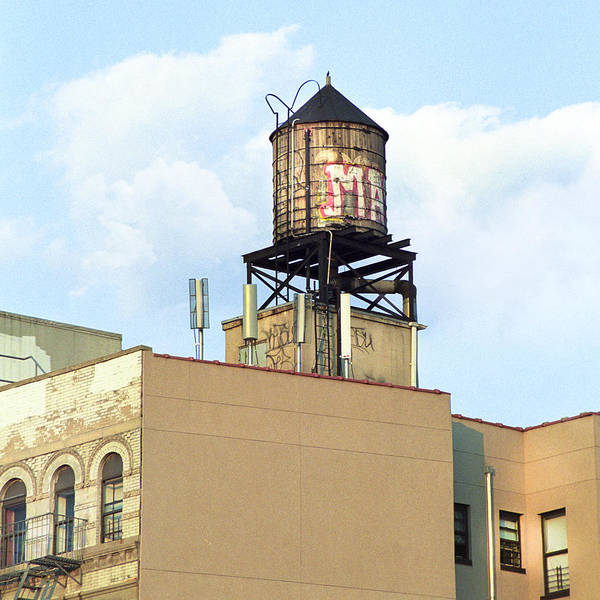 Photograph - New York City Water Tower 4 - Urban Scenes by Gary Heller