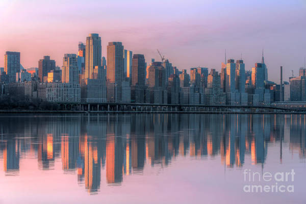 Photograph - New York City West Side Dawn I by Clarence Holmes