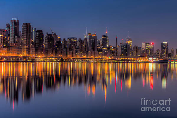 Photograph - New York City West Side Morning Twilight I by Clarence Holmes
