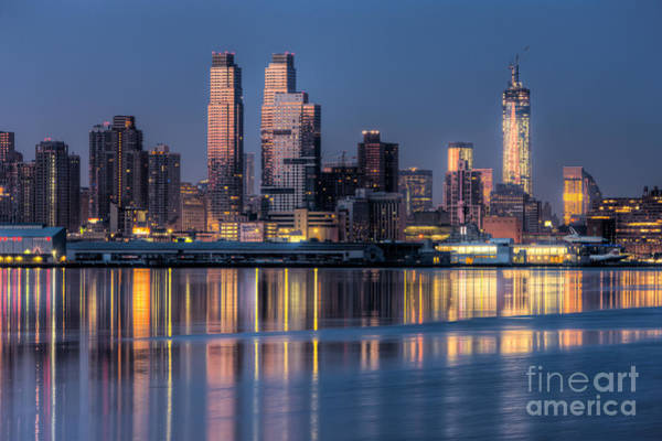 Photograph - New York City West Side Morning Twilight IIi by Clarence Holmes