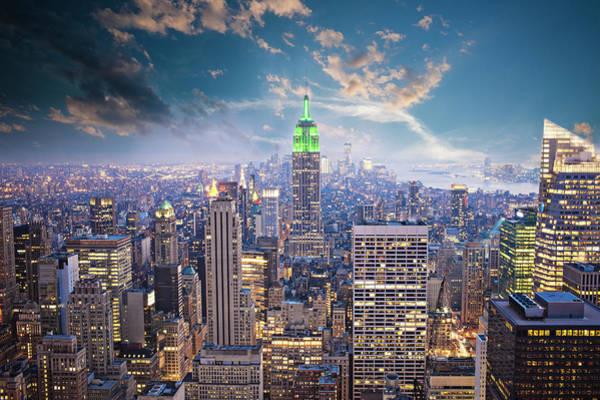 Looking Down Photograph - New York City by Xavierarnau