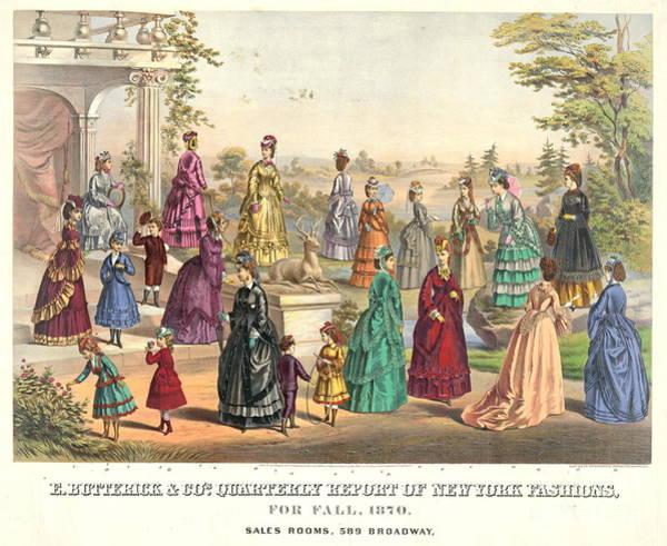 Wall Art - Photograph - New York Fashions 1870 by Padre Art