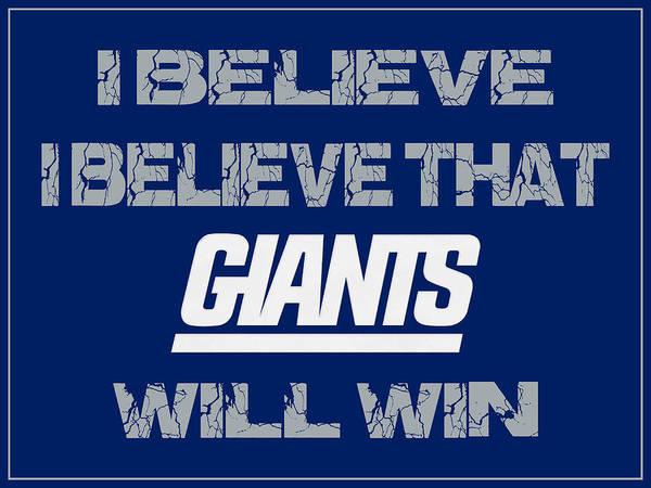 Saying Photograph - New York Giants I Believe by Joe Hamilton