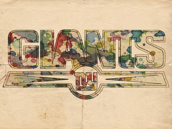 Painting - New York Giants Logo Vintage by Florian Rodarte
