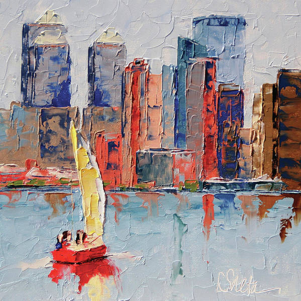 New York Harbor Art Print by Leslie Saeta