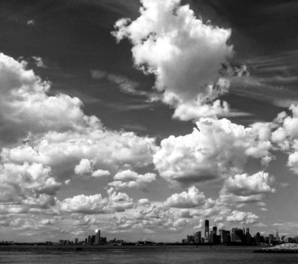 Photograph - New York Harbor Sky by Frank Winters