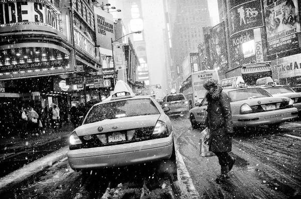 Cold Weather Wall Art - Photograph - New York In Blizzard by Martin Froyda