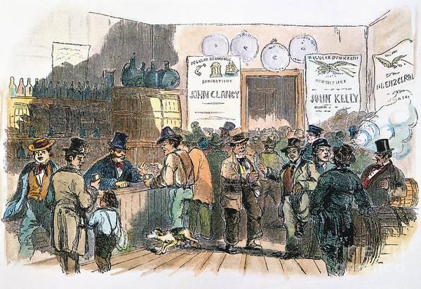 Photograph - New York: Irish Ballots by Granger