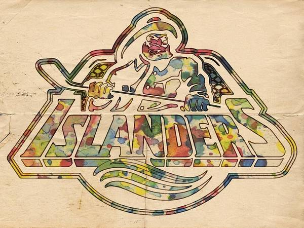 Painting - New York Islanders Retro Poster by Florian Rodarte