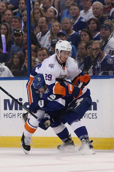 Stanley Cup Playoffs Photograph - New York Islanders V Tampa Bay by Scott Iskowitz