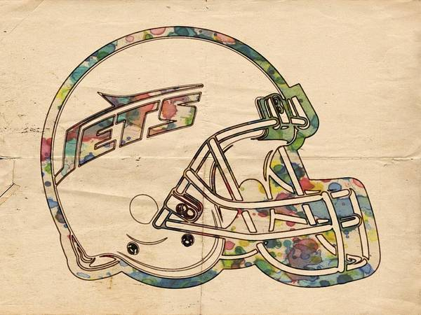 Painting - New York Jets Poster Art by Florian Rodarte