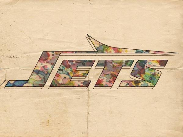 Painting - New York Jets Vintage Art by Florian Rodarte